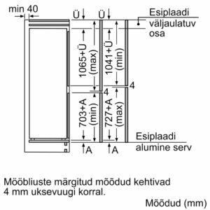 Serie | 6 Integreeritav külmik-sügavkülmik, sügavkülmik all